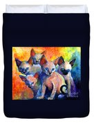 Devon Rex Kitten Cats Duvet Cover