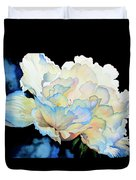 Dew Drops On Peony Duvet Cover