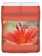 Dew Drops Shining In The Sun Duvet Cover