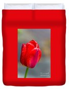 Dew On Tulip Duvet Cover