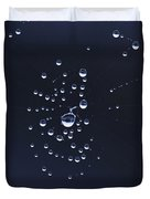 Dewdrops On The Cobweb Duvet Cover