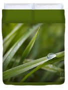 Dewy Drop On The Grass Duvet Cover