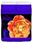 Dewy Peach Rose Duvet Cover