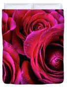 Dewy Rose Bouquet Duvet Cover