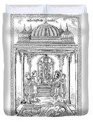 Dhanvantari, God Of Ayurvedic Medicine Duvet Cover