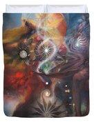 Dharma Of The Sleeper Yo-yo Duvet Cover