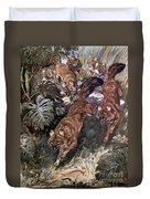 Dhole, Endangered Species Duvet Cover