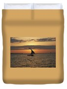 Dhow At Sunset Duvet Cover