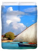 Dhow Off Zanzibar Duvet Cover