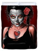 Dia De Los Muertos The Vapors Duvet Cover by Pete Tapang