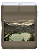 Diablo Lake - Le Grand Seigneur Of North Cascades National Park Wa Usa Duvet Cover