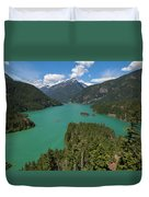 Diablo Lake Duvet Cover