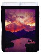 Diablo Lake, United States Duvet Cover