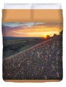 Diamond Craters Sunset Duvet Cover