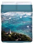 Diamond Head Lighthouse Duvet Cover