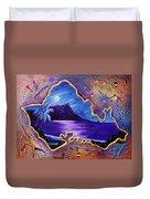 Diamond Head Moon Oahu #141 Duvet Cover