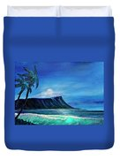 Diamond Head Moonscape #371 Duvet Cover