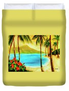 Diamond Head Waikiki Beach #127 Duvet Cover