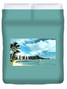 Diamond Head Duvet Cover