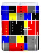 Diamonds And De Stijl Duvet Cover by Tara Hutton