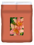 Diamonds And Lilies Duvet Cover