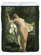Diana At Her Bath Duvet Cover