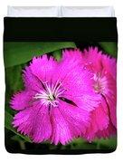 Dianthus First Love Flower Print Duvet Cover