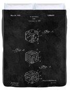 Dice Cube Patent Duvet Cover