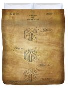 Dice Patent From 1923 Duvet Cover