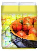Diced Tomatoes Duvet Cover