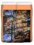 Dick's Creek Falls Duvet Cover