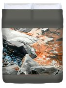 Dick's Creek Leaf Jam Duvet Cover
