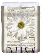 Dictionary Daisy Duvet Cover