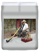 Didgeridoo Performer Duvet Cover
