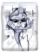 Diego At The Door Duvet Cover