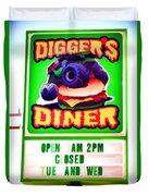 Digger's Diner Duvet Cover