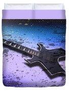 Digital-art E-guitar II Duvet Cover by Melanie Viola