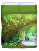 Digital Bamboo Rip Van Winkle Gardens  Duvet Cover
