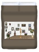 digital exhibition _ A sculpture of a dancing girl 3 Duvet Cover