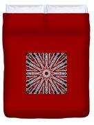 Digital Kaleidoscope Red-white 7 Duvet Cover