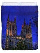 Digital Liquid - Washington National Cathedral After Sunset Duvet Cover