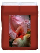 Digital Oil Painting Pink Iris 9915 O_2 Duvet Cover