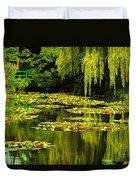Digital Paining Of Monet's Water Garden  Duvet Cover