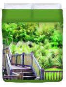 Digital Paint Landscape Jefferson Island  Duvet Cover