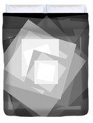 Digital Rose. Black And White Duvet Cover