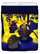 Digital Still Life Duvet Cover