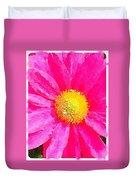 Digital Watercolour Of A Pink Daisy Pollen Flower Duvet Cover