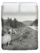 Dilemma On Highway #1, Chickaloon, Alaska Duvet Cover