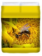 Diligent Pollinating Work Duvet Cover