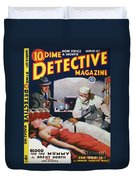 Dime Novel 1933 Duvet Cover